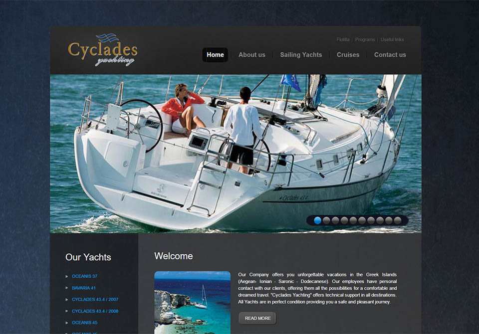 cyclades yachting, webdesign365
